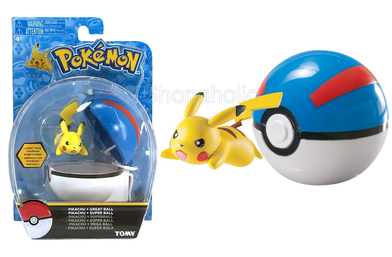 Pokemon Clip And Carry Pikachu And Great Ball - Shopaholic for Kids
