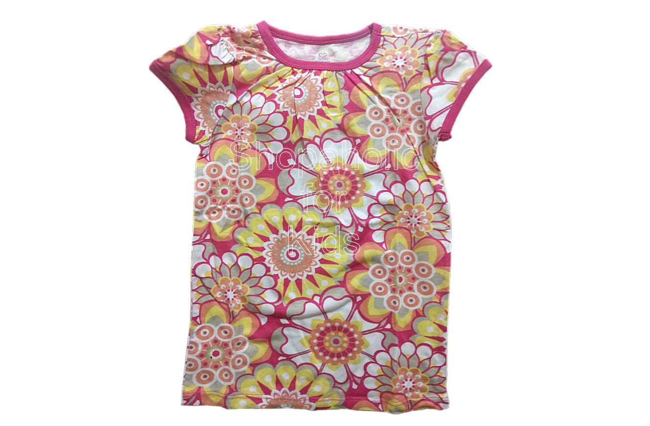 Old Navy Printed Crew-Neck Tees White Floral - Shopaholic for Kids