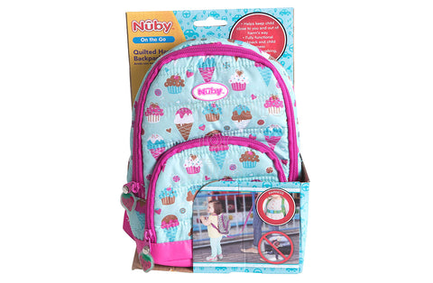 Nuby 2 in 1 Quilted Backpack Harness – Ice Cream