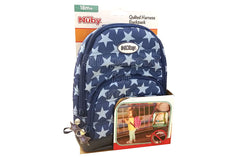 Nuby 2 in 1 Quilted Backpack Harness – Navy Stars