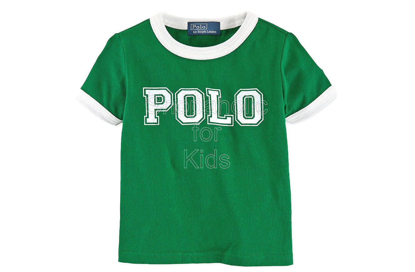 Ralph Lauren Baby Boys' Cotton Tee Athletic Green - Shopaholic for Kids