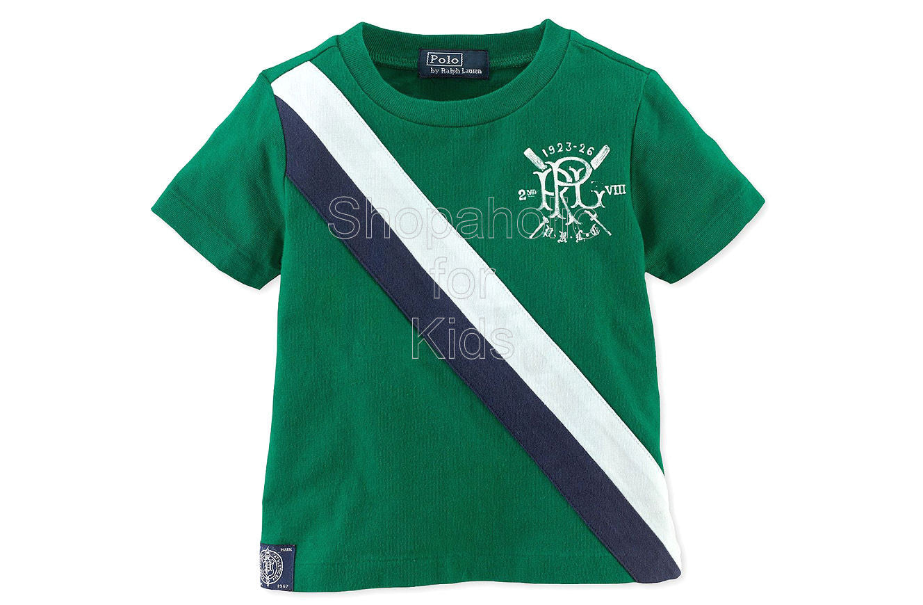 Ralph Lauren Baby Boys' Short Sleeve Tee Athletic Green - Shopaholic for Kids