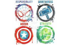 Marvel Avengers Icons Peel And Stick Wall Decals - Shopaholic for Kids
