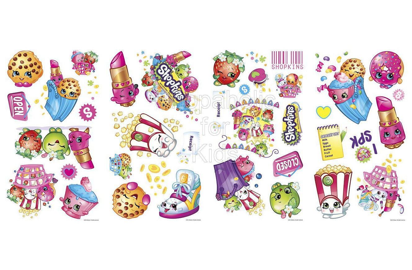Shopkins Peel and Stick Wall Decals - Shopaholic for Kids