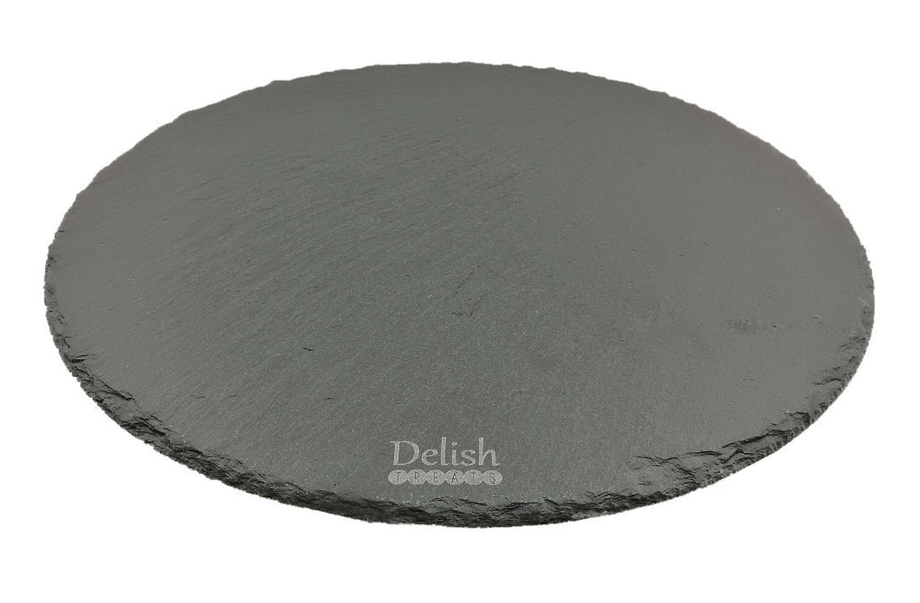 Delish Treats Round Black Slate Stand / Board - Shopaholic for Kids