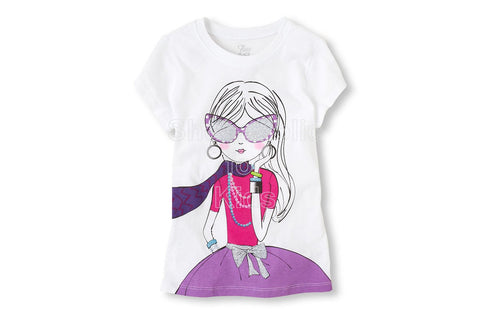 Children's Place  Scarf Girl Graphic Tee
