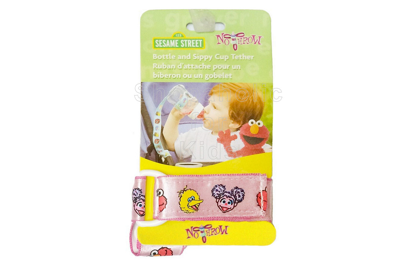 Sesame Street Tether for Bottle & Sippy Cup - Pink - Shopaholic for Kids