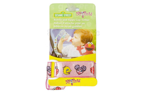 Sesame Street Tether for Bottle & Sippy Cup - Pink