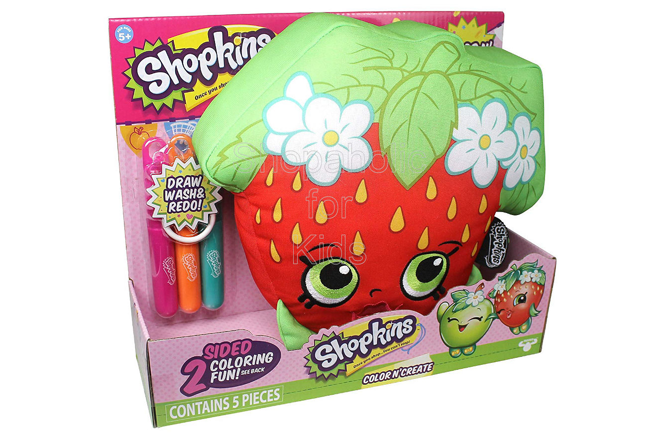 "Shopkins 10"" Color 'n Create Activity - Strawberry Kiss - Shopaholic for Kids"