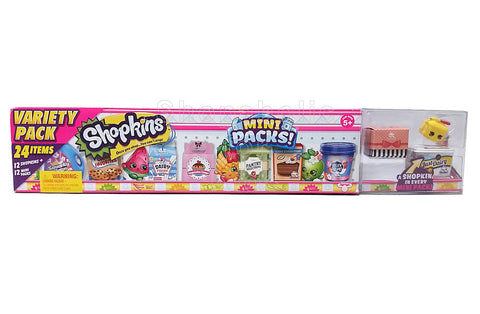 Shopkins Mini Pack - Variety Pack (24 Items) - Set A