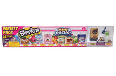 Shopkins Mini Pack - Variety Pack (24 Items) - Set C - Shopaholic for Kids