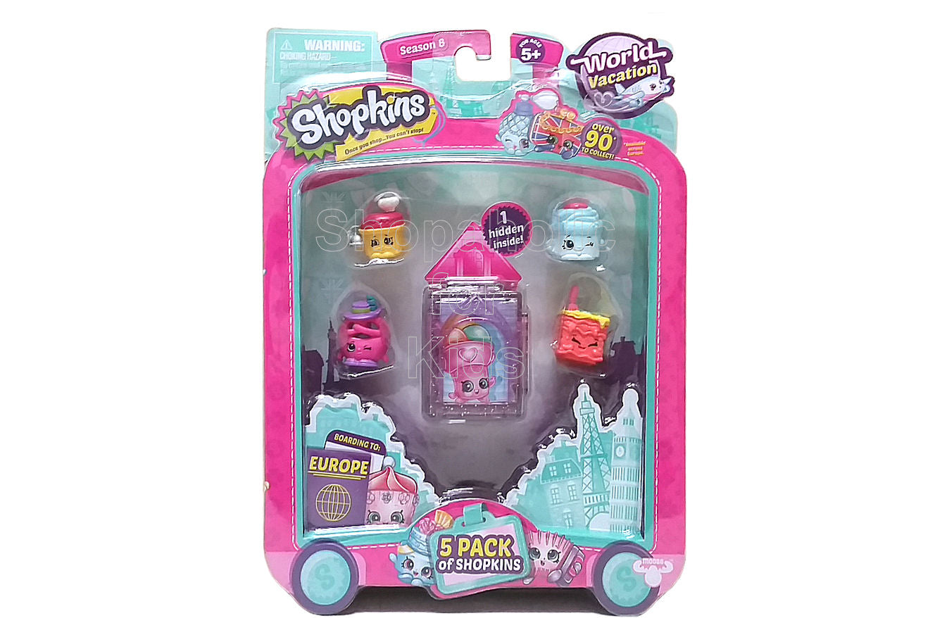 Shopkins Season 8 World Vacation, 5 Pack - Europe - Shopaholic for Kids