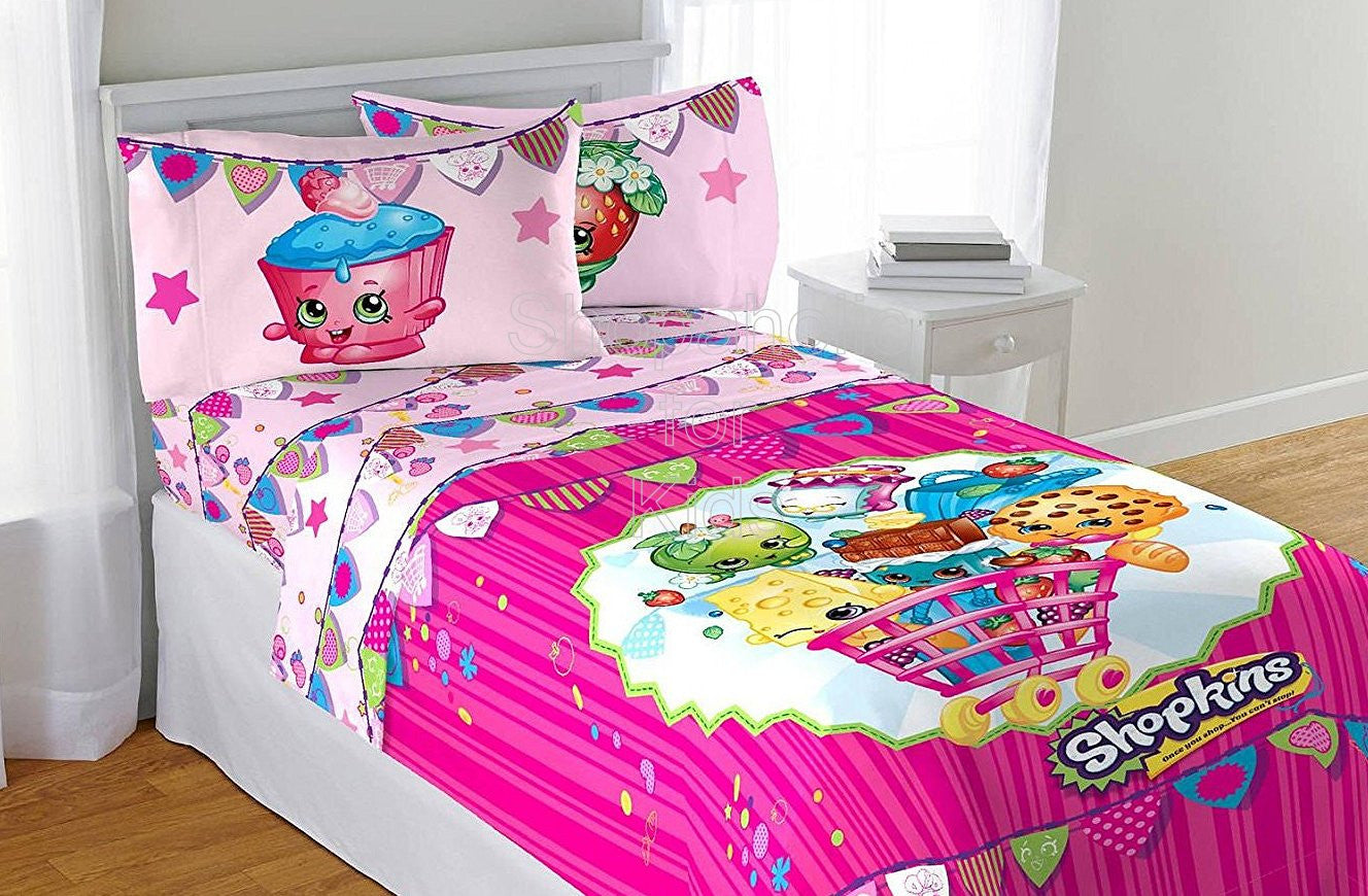 Shopkins Twin Sheet Set - Shopaholic for Kids