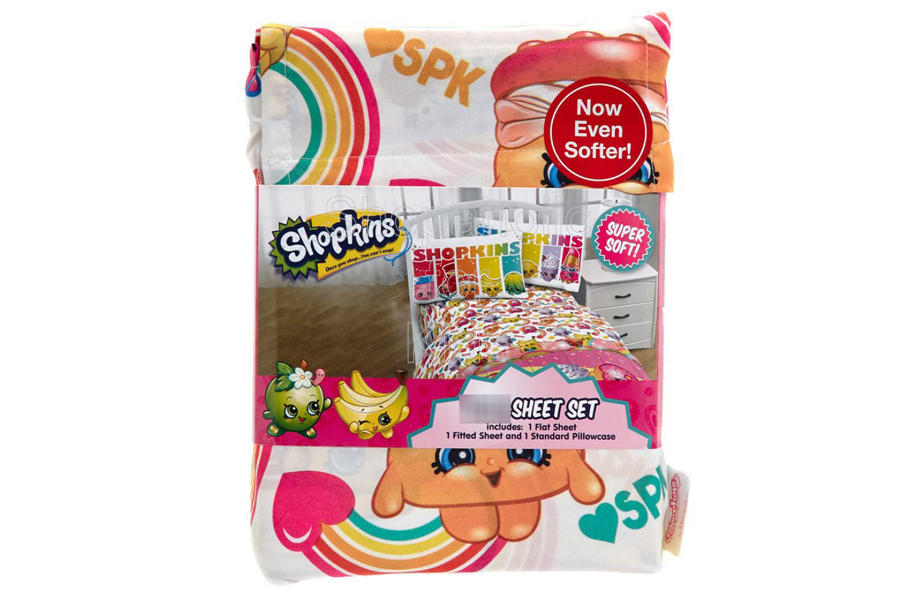 Shopkins SPK Party Twin Sheet Set - Shopaholic for Kids