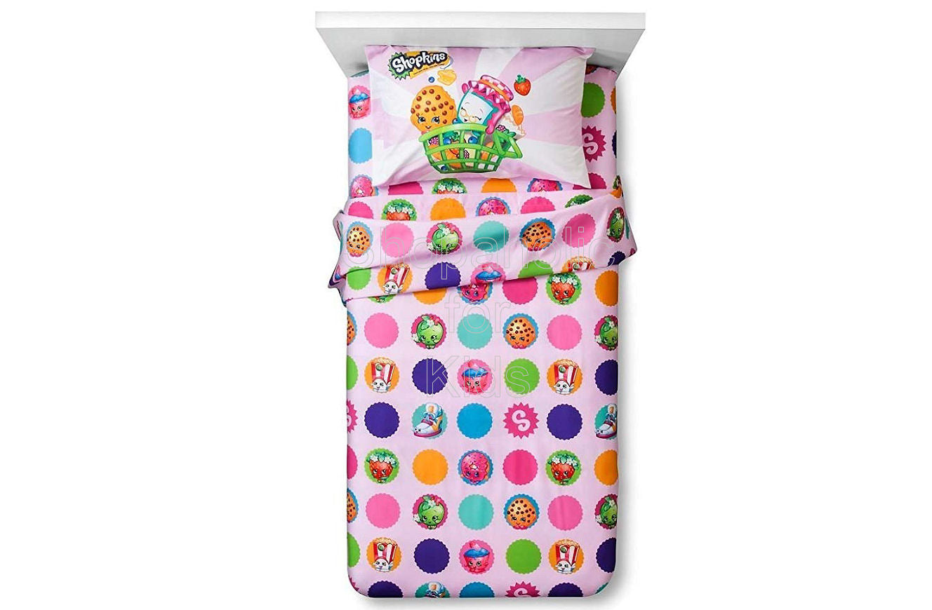 Shopkins Shopping Cart Twin Sheet Set - Shopaholic for Kids