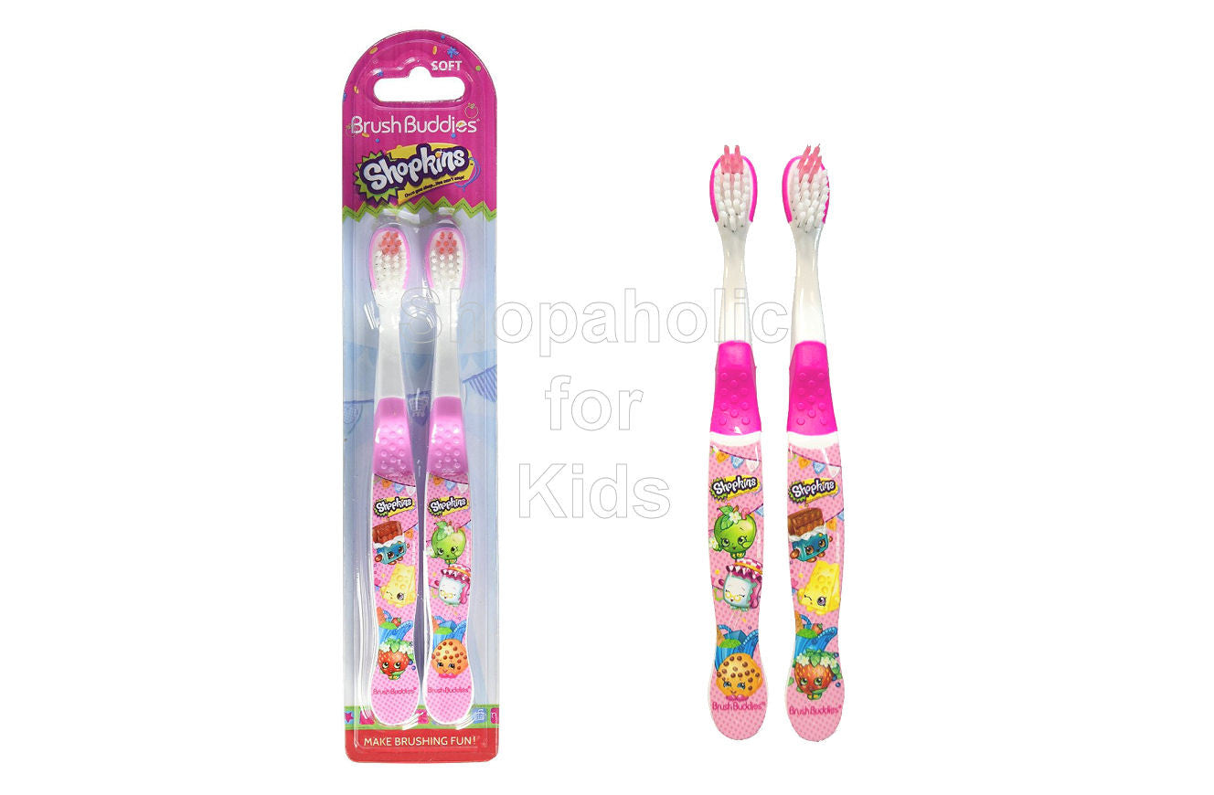 Brush Buddies Shopkins Toothbrush - 2pcs - Shopaholic for Kids