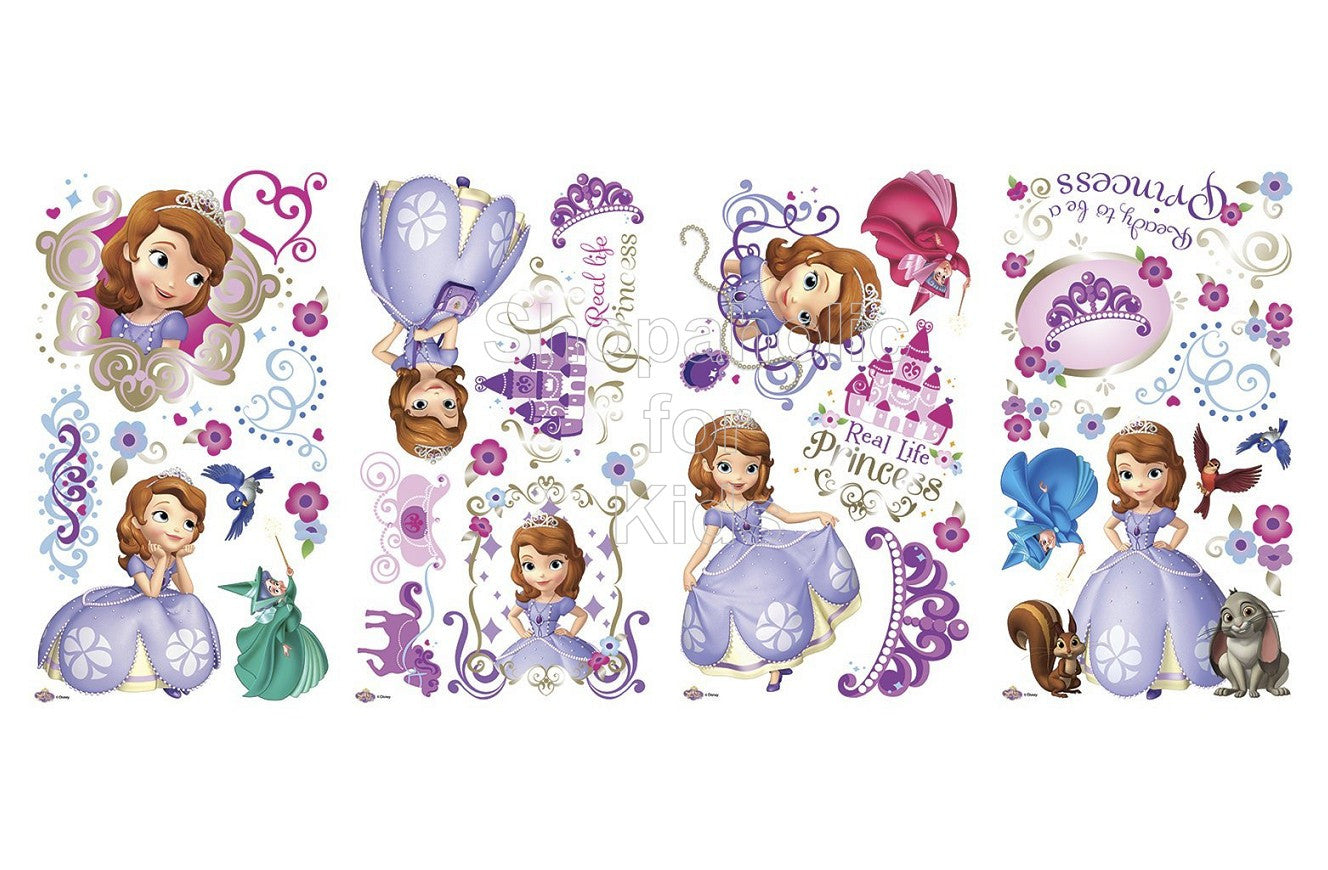 Sofia The First Peel and Stick Wall Decals / Wall Sticker - Shopaholic for Kids
