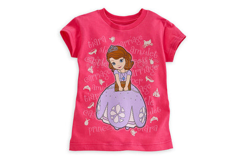 "Disney Sofia the First ""Tee-ara"" Tee"