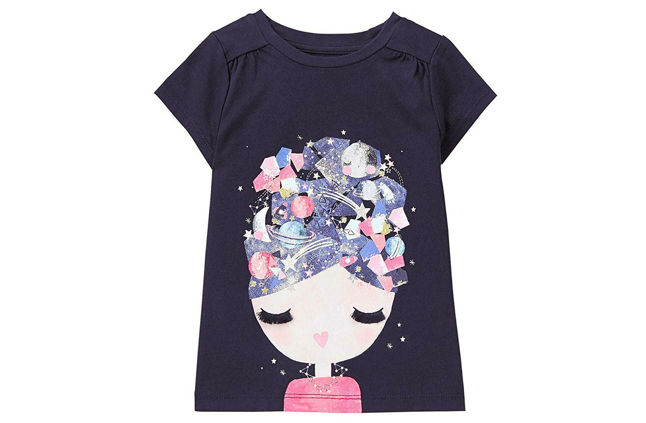 Gymboree Space Head Tee for Girls - Shopaholic for Kids