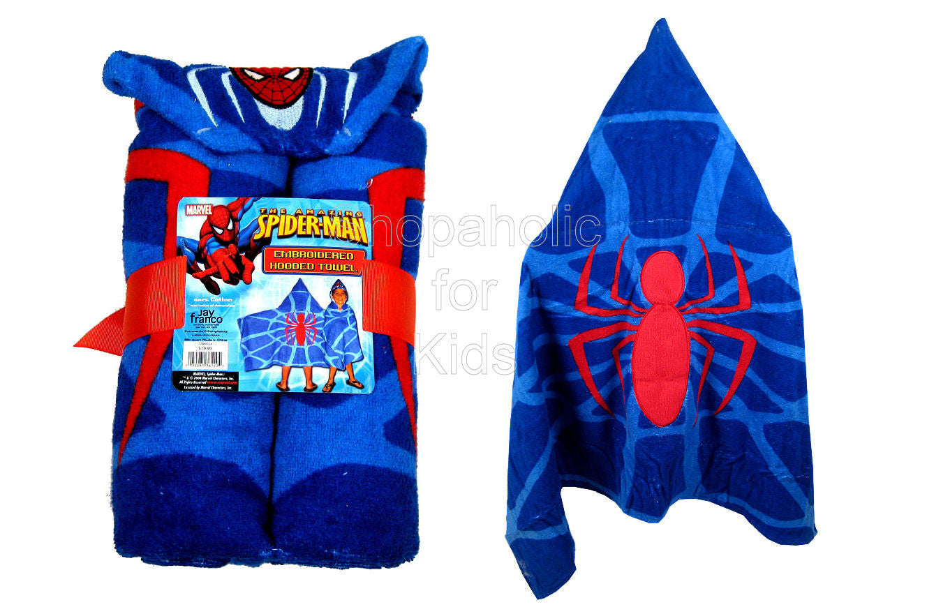 Spider-Man Emboidered Hooded Towel