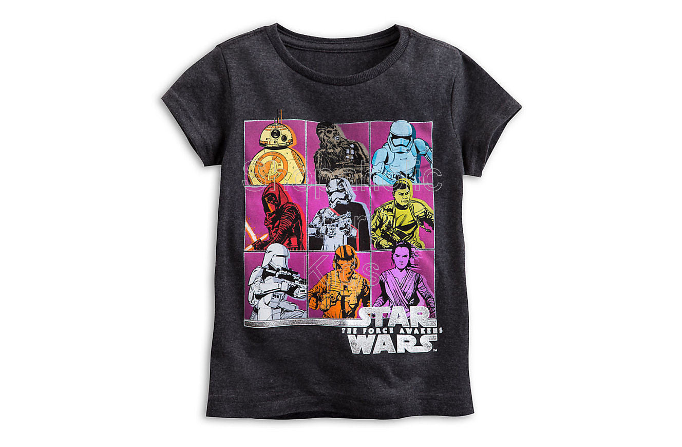 Star Wars: The Force Awakens Cast Tee for Girls - Shopaholic for Kids