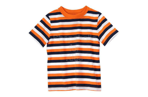 Crazy8 Stripe Tee - Orange Stripe