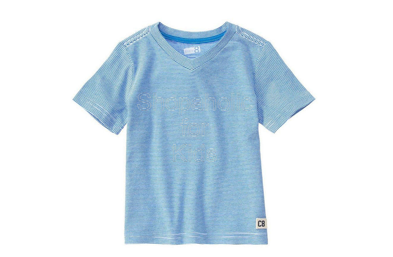 Crazy8 Stripe Tee - Sea Blue - Shopaholic for Kids