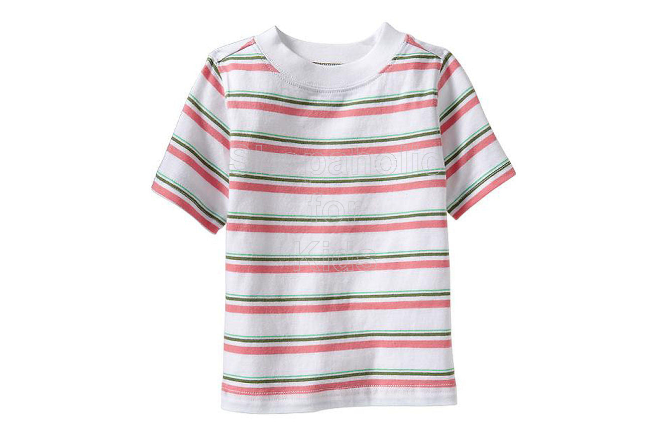 Old Navy Striped Crew-Neck Tees Pink Stripe - SOLD OUT