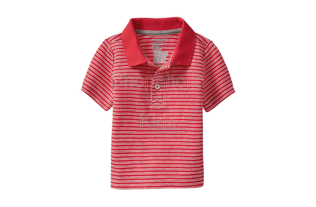 Old Navy Striped Pique Polos Color: Mini Red Stripe - Shopaholic for Kids