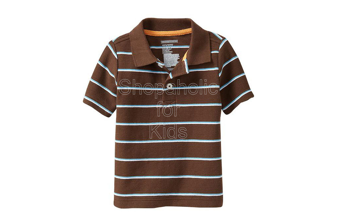 Old Navy Striped Pique Polos Color: Bear Hug - Shopaholic for Kids