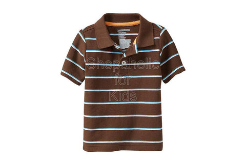 Old Navy Striped Pique Polos Color: Bear Hug