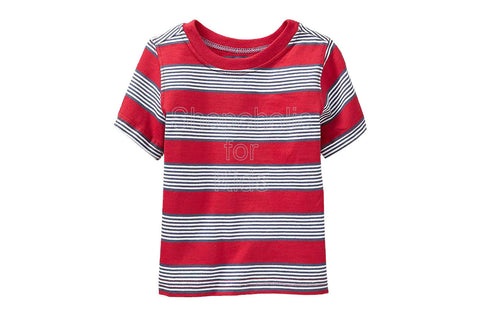 Old Navy Striped Tees Color: Red Stripe