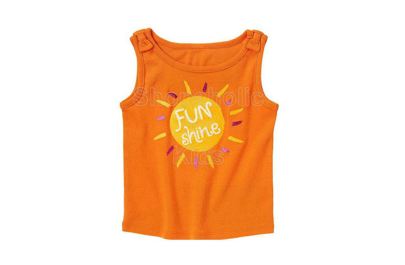 crazy8 Sunshine Bow Tank Bright Orange - Shopaholic for Kids