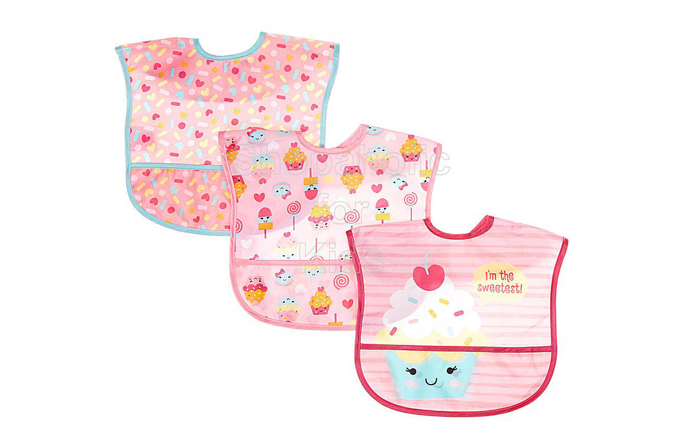 Baby Gear Sweet Treats Bib Set 3-Pack