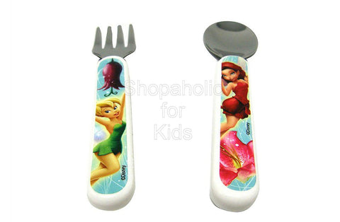 Learning Curve Disney Fairies Fork & Spoon Set - Tinker Bell