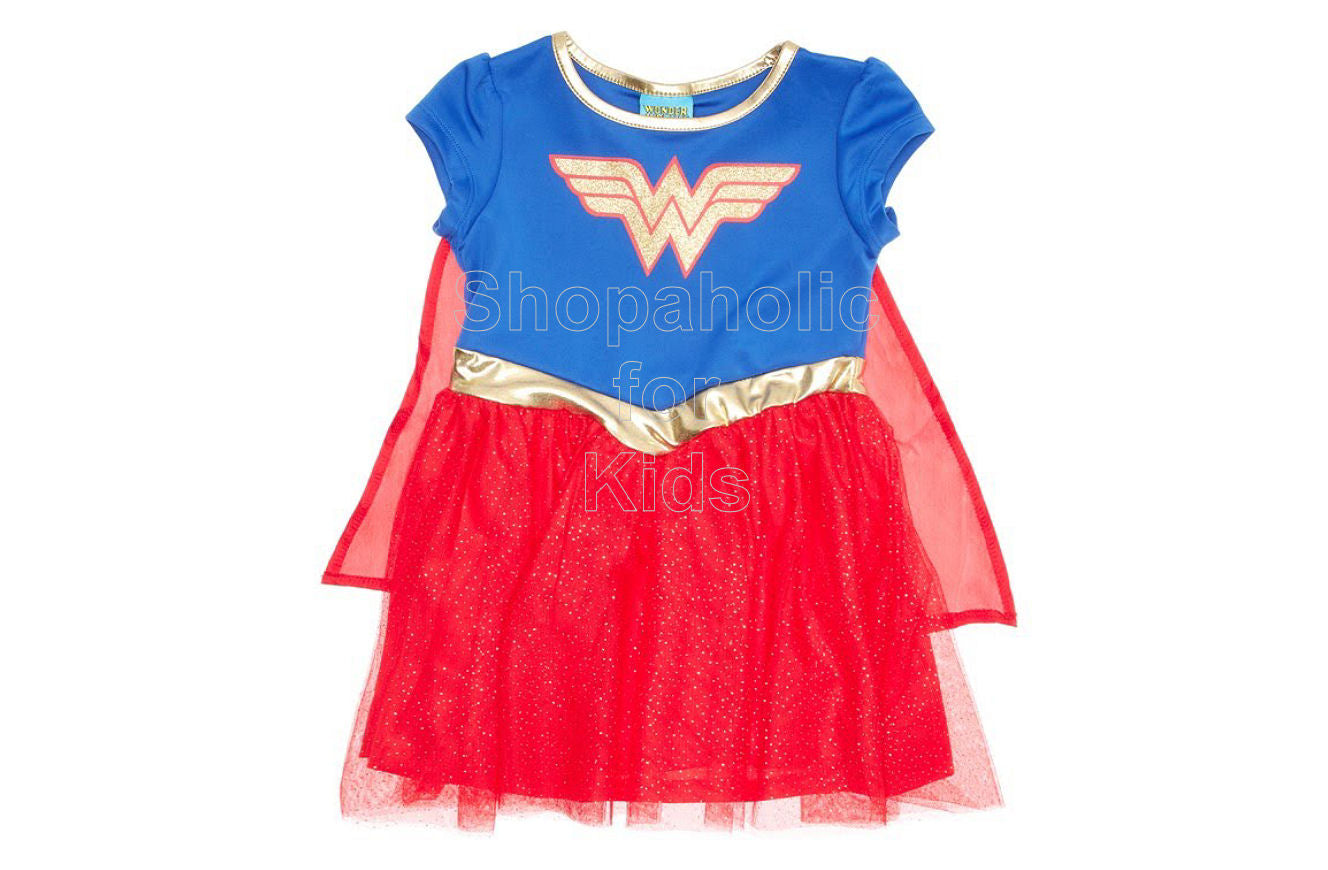 Wonder Woman Dress with Detachable Cape for Toddler - Shopaholic for Kids