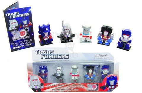 Transformers 5-pack Collectible Figurines and 3D Puzzle Piece Collector Cards