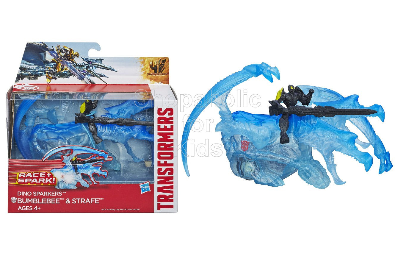 Transformers Age of Extinction Dino Sparkers Bumblebee and Strafe Figures - Shopaholic for Kids