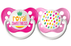 Ulubulu Royal Sweetness Pacifier, 0-6 Months, 2-Pack - Shopaholic for Kids
