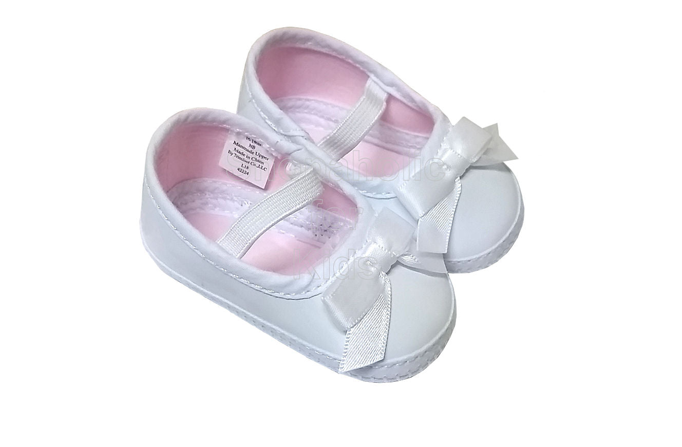 Wee Kids Baby Girl White Shoes, Newborn (0-3mos)