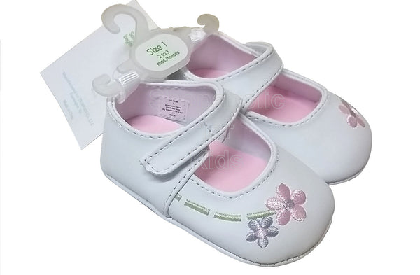 Wee Kids White Floral Baby Girl Shoes