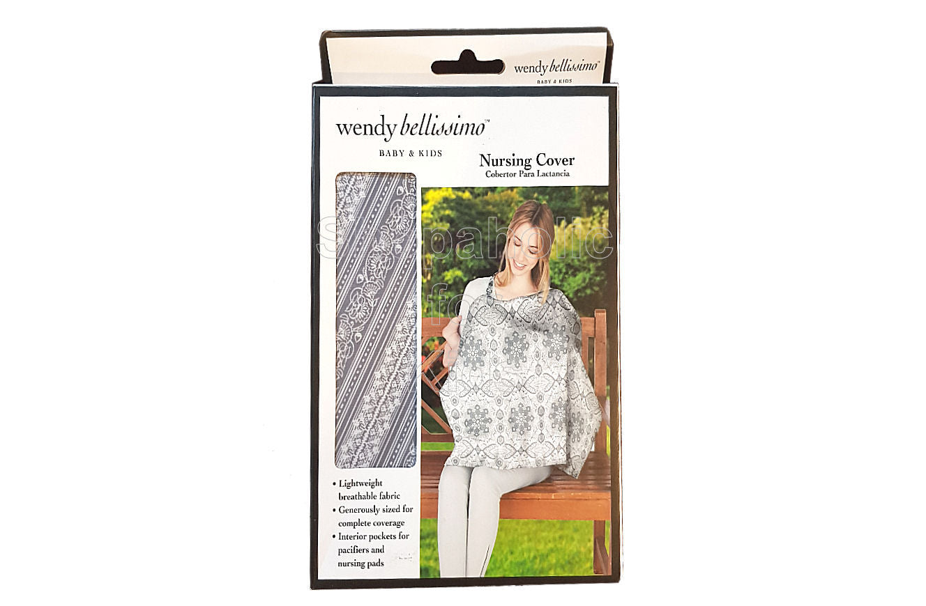 Wendy Bellisimo Grey Nursing Cover - Shopaholic for Kids