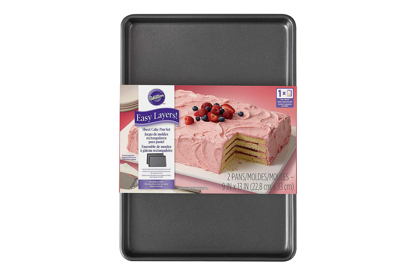 Wilton Easy Layers! Sheet Cake Pan, 2-Piece Set - Shopaholic for Kids