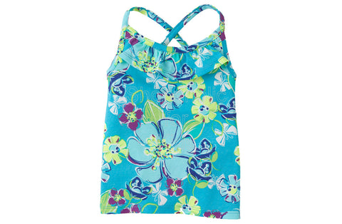 Children's Place Active Print Racer Back - Carib Blue