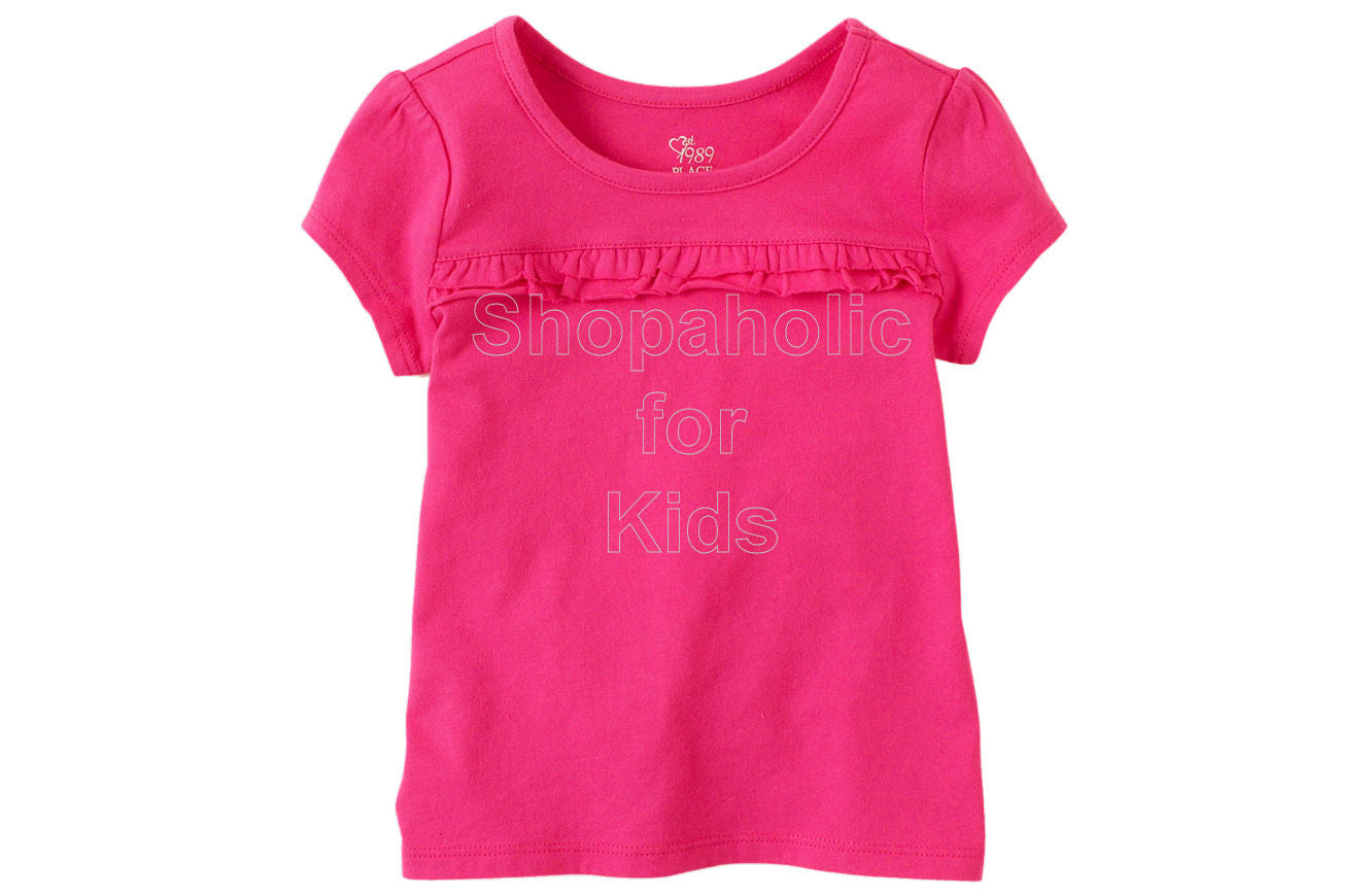 Children's Place  Active Ruffle Tee - Pink Fizz - Shopaholic for Kids