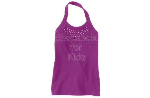 Children's Place  Active Shine Halter Purpleflwr