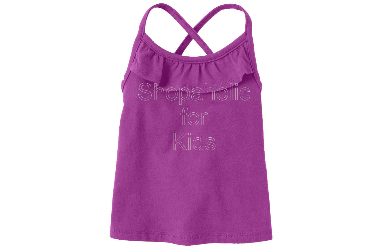 Children's Place Active Solid Racer Back - Purpleflwr - Shopaholic for Kids