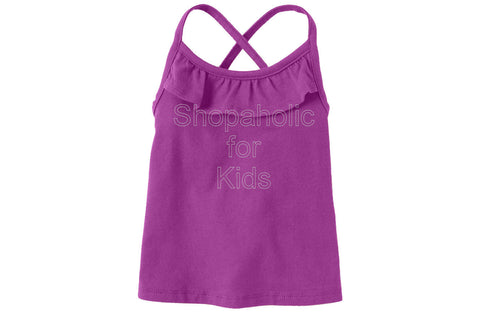 Children's Place Active Solid Racer Back - Purpleflwr