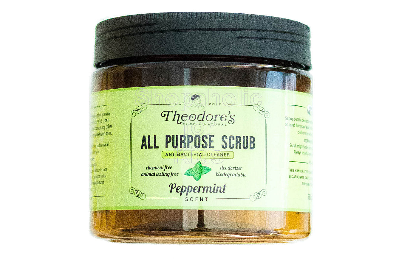 Theodore's Home Care Pure Natural All Purpose Scrub Antibacterial Cleaner - Shopaholic for Kids