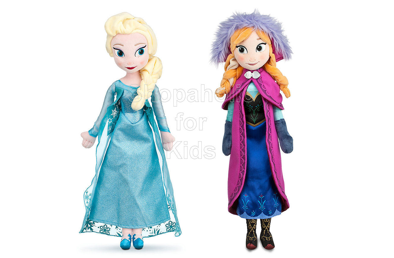 Frozen - Elsa and Anna Plush Doll Set - Shopaholic for Kids